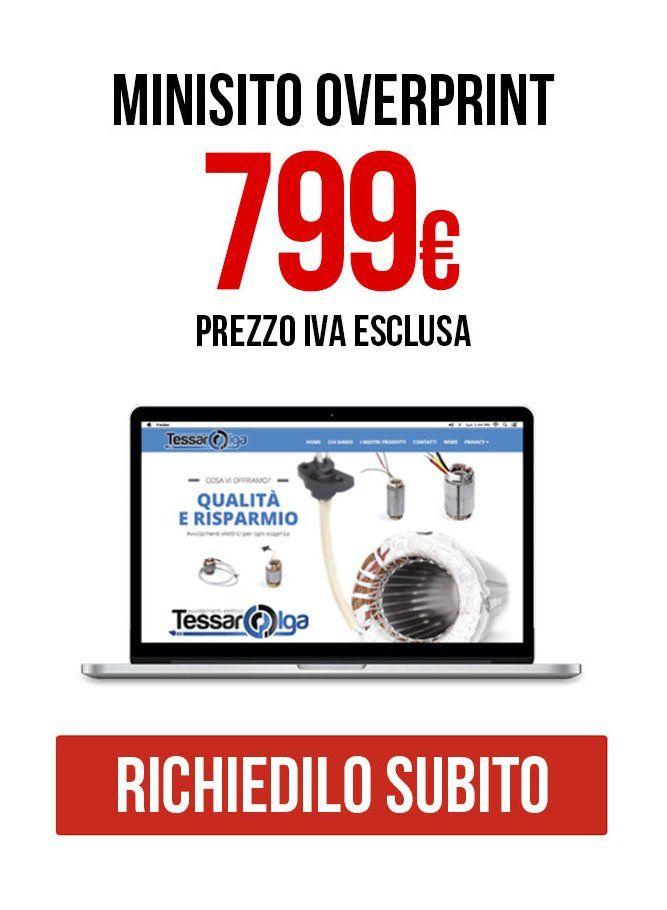 Minisito Siti internet Vicenza Overprint