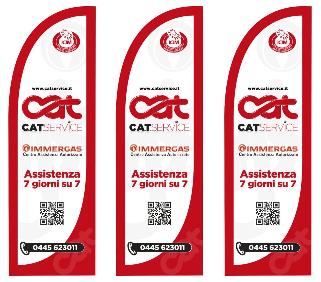 Bandiere Cat Service Immergas