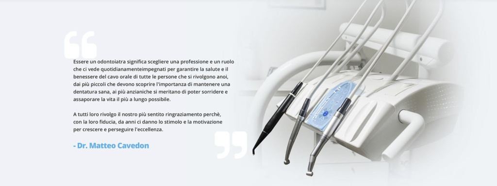 Sito Web Studio Dentistico Cavedon