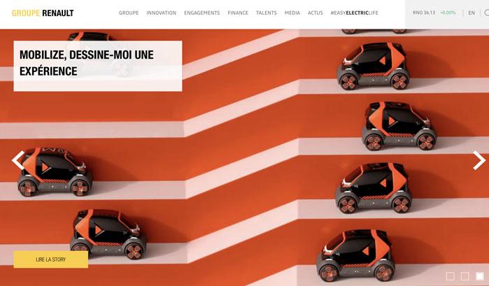 Group Renault wordpress website