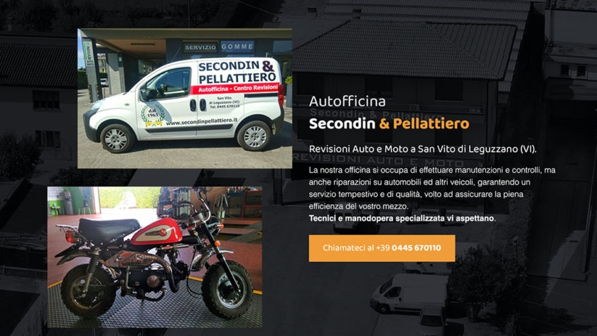 Sito Web Autofficina Secondin e Pellattiero