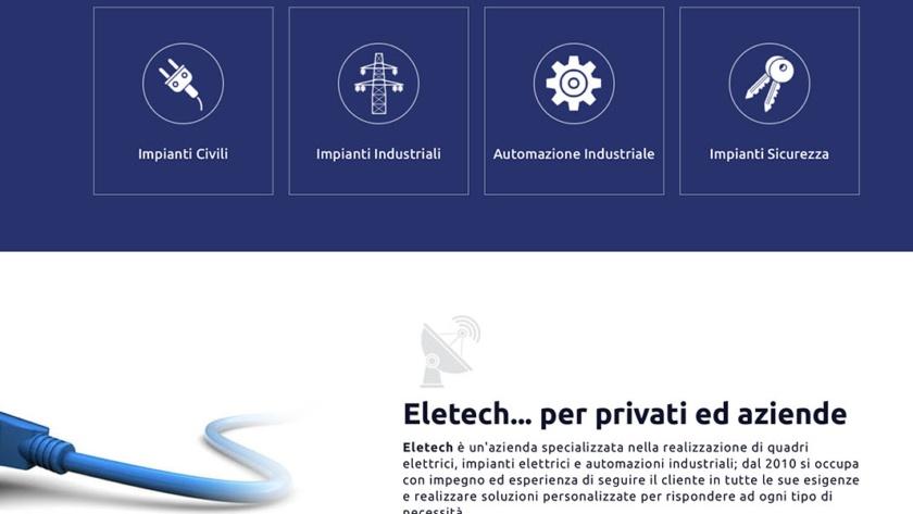 Sito Web Eletech Buzzaccaro