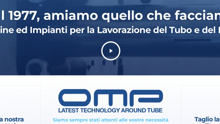 Sito Web OMP Group Srl