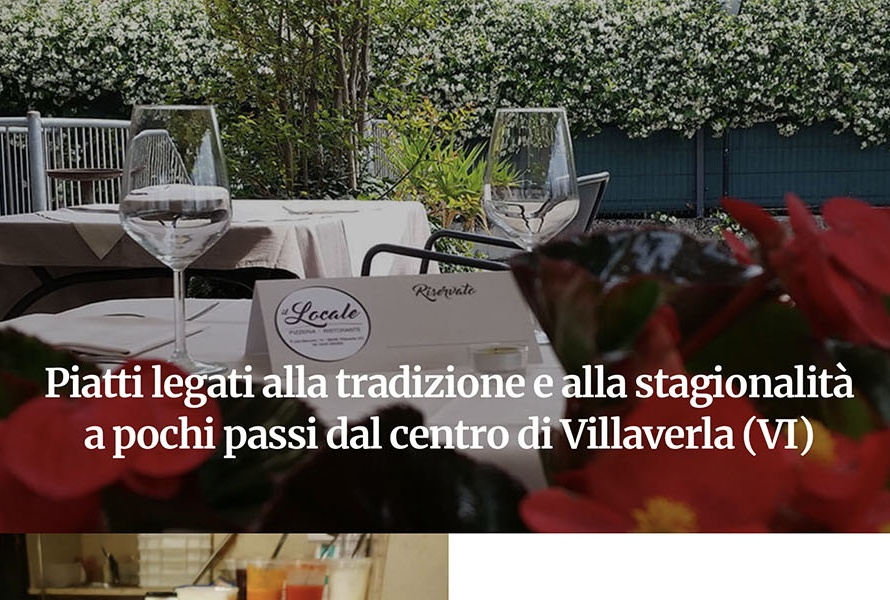 Sito Web Pizzeria Ristorante Il Locale
