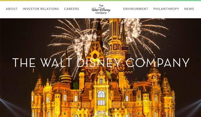 Walt Disney wordpress website