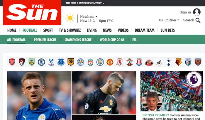 the sun wordpress website